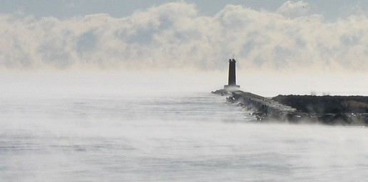 Sheboygan Lighthouse on a Cold Day. Photo by Jan McAllister
